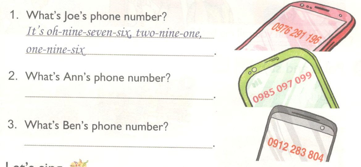 Unit 18: What's your phone number?- chuyên mục Tiếng Anh lớp 4