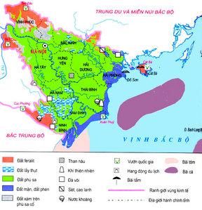 Quan sát hình 20.1, hãy kể tên và nêu sự phân bố các loại đất ở đồng bằng  sông Hồng