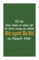 Cảm nhận về nhân vật bà Hiền trong tác phẩm Một người Hà Nội của Nguyễn Khải.