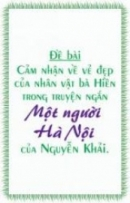 Vẻ đẹp của nhân vật bà Hiền trong truyện ngắn Một người Hà Nội của Nguyễn Khải.