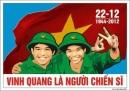 Kể về một cuộc gặp gỡ với các chú bộ đội nhân ngày thành lập Quân đội nhân dân Việt Nam (22-12). Trong buổi gặp đó, em được thay mặt các bạn phát biểu những suy nghĩ về tình cảm trách nhiệm của thế hệ sau đối với thê hệ cha anh đi trước.