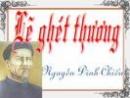 Cảm nhận về đoạn trích Lẽ ghét thương của Nguyễn Đình Chiểu.