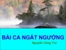 Phân tích Bài ca ngất ngưởng của tác giả Nguyễn Công Trứ