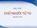 Phân tích truyện ngắn Chữ người tử tù - Nguyễn Tuân