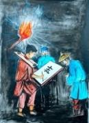 Sự hội ngộ ba nhân vật trong Chữ người tử tù của Nguyễn Tuân.