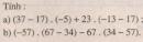 Bài 92 trang 95 sgk toán 6 tập 1