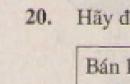 Bài 20 trang 118 - Sách giáo khoa toán 9 tập 2