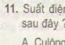 Bài 11 trang 45 - Sách giáo khoa vật lí 11