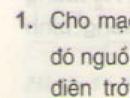 Bài 1 trang 62 - Sách giáo khoa vật lý 11