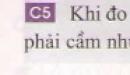 Câu 5 trang 34 - Sách giáo khoa vật lí 6