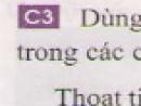 Câu 3 trang 34 - Sách giáo khoa vật lí 6