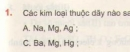 Bài 1 - Trang 141 - SGK Hóa học 12