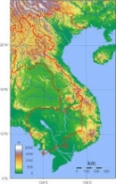 Quan sát trên bản đồ Địa lí tự nhiên Việt Nam (hoặc Atlat Địa lí Việt Nam), nhận xét về sự thay đổi thiên nhiên từ Đông sang Tây.