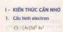 Lý thuyết bài luyện tập tính chất hóa học của crom, đồng và tính chất hóa học của chúng.