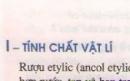 Lý thuyết rượu etylic