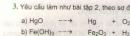 Bài 3 trang 58 sgk hóa học 8