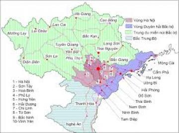 Sự chuyển dịch cơ cấu kinh tế theo ngành ở Đồng bằng sông Hồng diễn ra như thế nào? Nêu những định hướng chính trong tương lai.