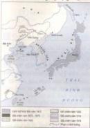 Dựa vào lược đồ (hình 3), trình bày những nét chính về sự bành trướng của đế quốc Nhật Bản cuối thế kỉ XIX-đầu thế kỉ XX .
