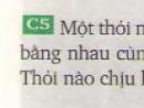 Câu 5 - trang 38 SGK vật lý 8