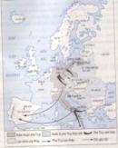 Sử dụng lược đồ (hình 43) để trình bày việc phát xít Đức mở đầu việc xâm chiếm châu Âu như thế nào .