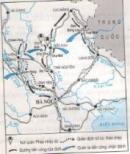 Dựa vào lược đồ (Hình 45), trình bày diễn biến chiến dịch Việt Bắc thu - đông năm 1947.