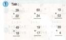 Bài 1, 2, 3 trang 17 sgk toán 2
