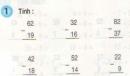 Bài 1, 2, 3 trang 54 sgk toán 2