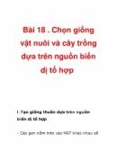 Bài 1, 2 trang 78 SGK Sinh 12