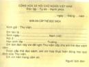 Tập làm văn: Điền vào tờ giấy in sẵn trang 11 SGK Tiếng Việt 3 tập 1