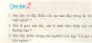 Bài 1, 2, 3 trang 46 sgk sinh học 7