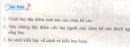 Bài 1, 2, 3 trang 137 sgk sinh học 7