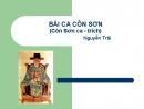 Soạn bài: Bài ca Côn Sơn trang 78 SGK Ngữ văn 7