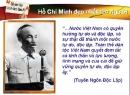 Luyện tập Tuyên ngôn độc lập trang 29 SGK Văn 12