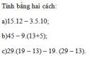 Bài 119 trang 100 sgk toán 6 tập 1
