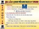 Bài tập và thực hành 6: Làm quen với Word trang 106 SGK Tin học 10