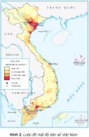 Quan sát lược đồ mật độ dân số, cho biết dân cư nước ta tập trung đông đúc ở những vùng nào và thưa thớt ở những vùng nào?