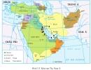 Hãy xác định trên bản đồ (hoặc Alat Địa lí thế giới) vị trí các quốc gia của khu vực Tây Nam Á