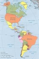 Quan sát Bản đồ Các nước trên thế giới, hãy: Cho biết Hoa Kì giáp với những quốc gia và những đại dương nào?