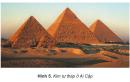 Dựa vào hình 5 và vốn hiểu biết, cho biết Ai Cập nổi tiếng về công trình kiến trúc cổ nào.