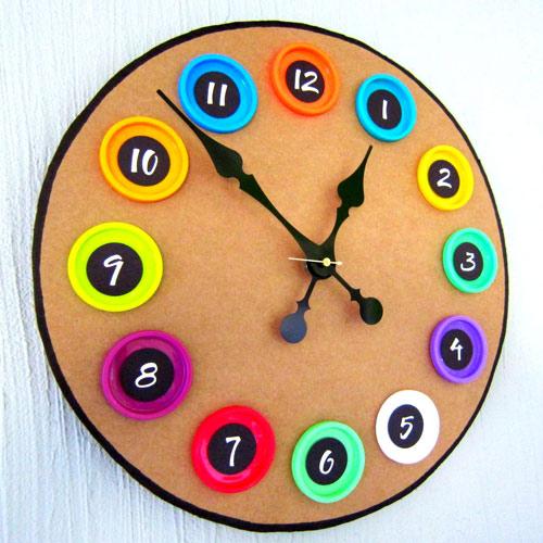 Сделать часы своими руками картона