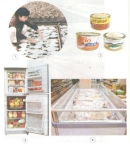 Chỉ và nói những cách bảo quản thức ăn trong từng hình
