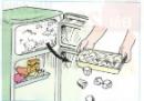 Đặt khay có nước vào ngăn làm đá của tủ lạnh, sau vài giờ lấy khay ra. Hiện tượng gì sẽ xảy ra đối với nước trong khay? Hiện tượng đó gọi là gì?