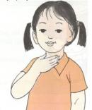 Đặt tay vào cổ như hình 4, khi nói bạn có cảm giác gì?