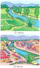 Theo bạn, hình 1 và 2 cho biết con người sử dụng đất trồng vào những việc gì ?