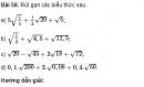 Bài 58 trang 32 sgk Toán 9 - tập 1
