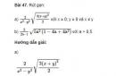 Bài 47 trang 27 sgk Toán 9 - tập 1
