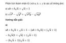 Bài 55 trang 30 sgk Toán 9 - tập 1
