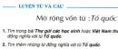 Câu 1, 2, 3, 4 trang 18 SGK Tiếng Việt 5 tập 1