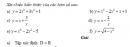 Bài 1 trang 7 SGK Đại số và Giải tích 12 Nâng cao