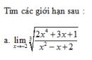 Câu 59 trang 178 SGK Đại số và Giải tích 11 Nâng cao